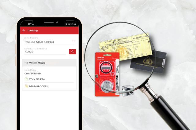 Tracking STNK, BPKB, dan Hotline Order